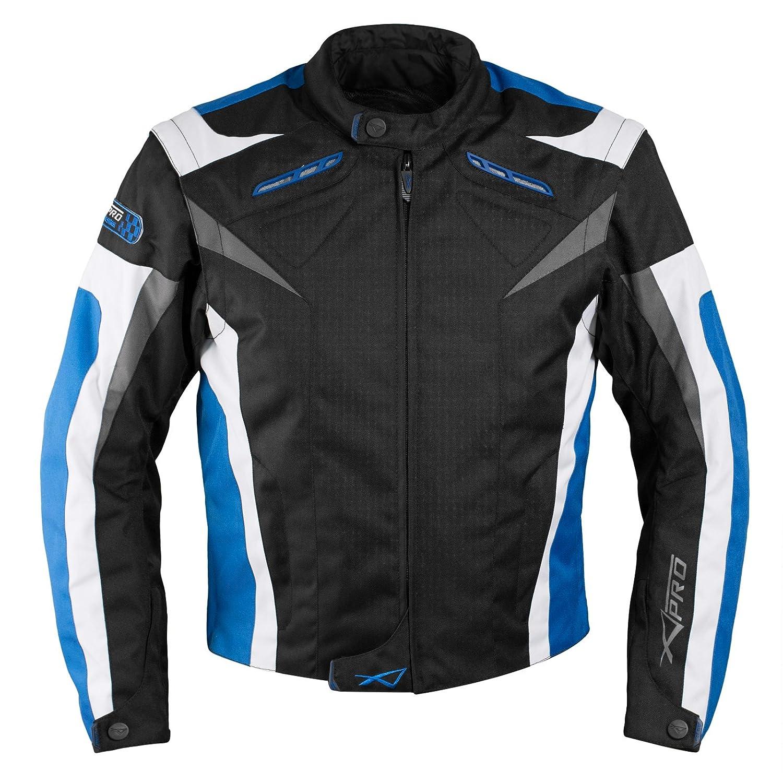 A-pro Moto CE Protections Textile Blouson Manchon D/émontable Gilet Termique noir M