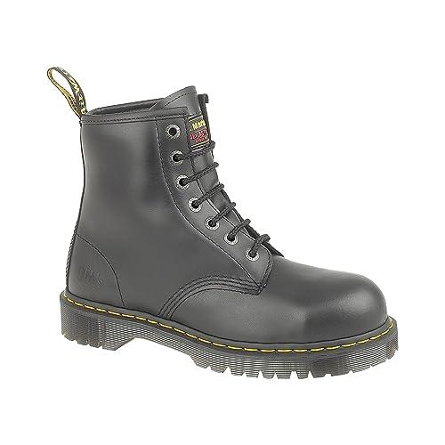 MENS DR MARTENS BLACK SAFETY WORK STEEL TOE CAP ICON 7B10 BOOTS SIZE UK 3 - 15-UK 4 (EU 37): Amazon.es: Zapatos y complementos