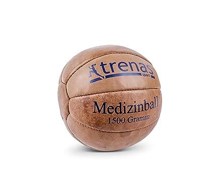 trenas Balón Medicinal de Cuero – 1500 Gramos: Amazon.es: Deportes ...