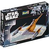 Revell Maqueta de Star Wars naboo Star Fighter en escala 1: 109, nivel 3, réplica exacta con muchos detalles, fácil pegar y para pintarlas, 03611
