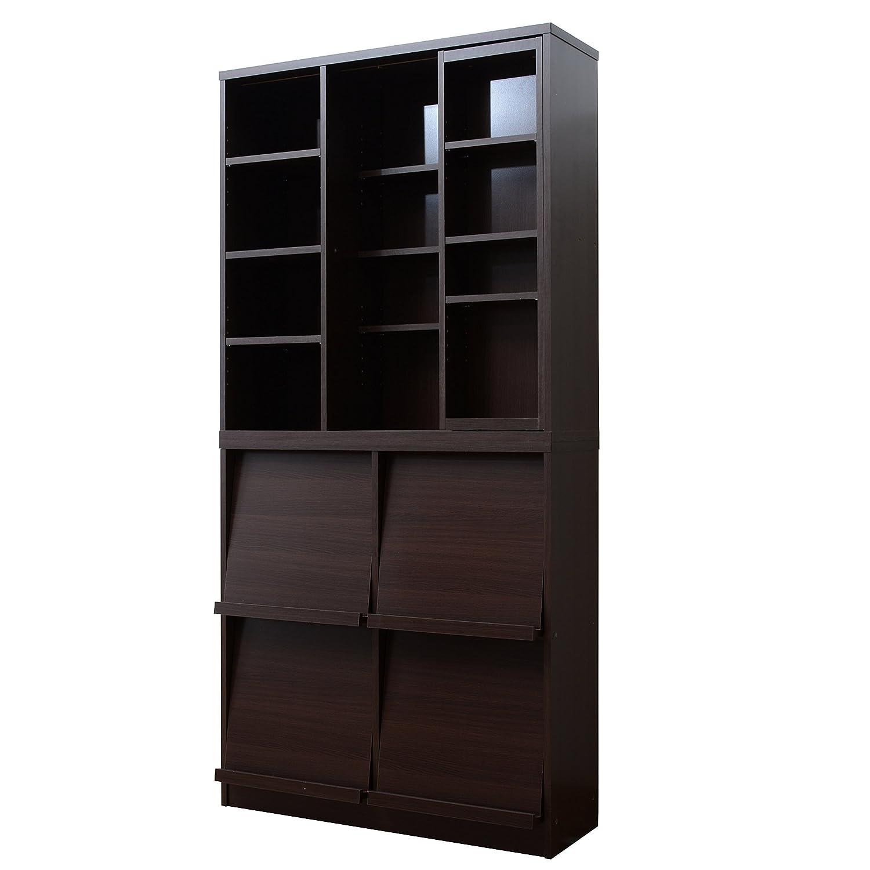 本棚&ディスプレイラック2個セット ブラウン B007K3DQ2Y ブラウン