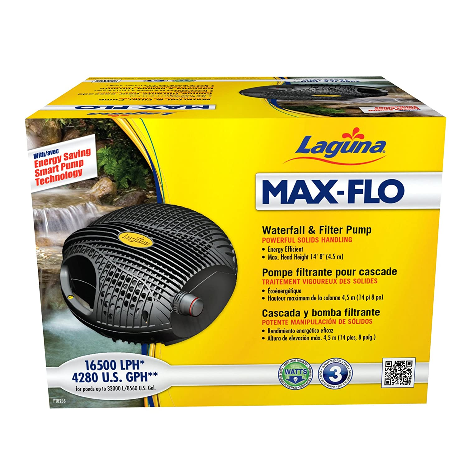Laguna Max-Flo 4280 Electronic Waterfall and Filter Pump for Ponds Up to 8560-Gallon by Laguna B0079WZI8G