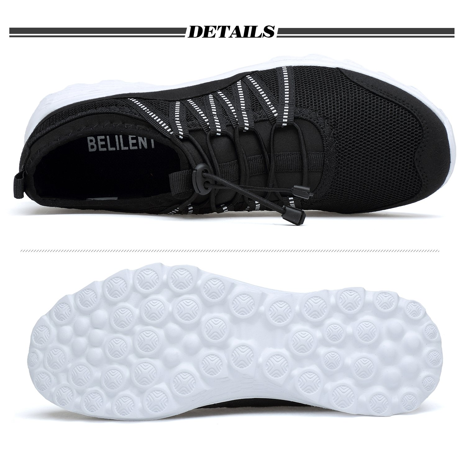 Men's Lightweight Walking Shoes Breathable Mesh Soft Sole for Casual Walk Outdoor Workout Travel Work by Belilent (Image #3)
