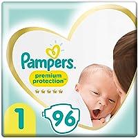 Pampers Premium Protection Maat 1 (2-5kg), x96 Luiers, Zachtste Comfort En Beste Huidbescherming Van Pampers