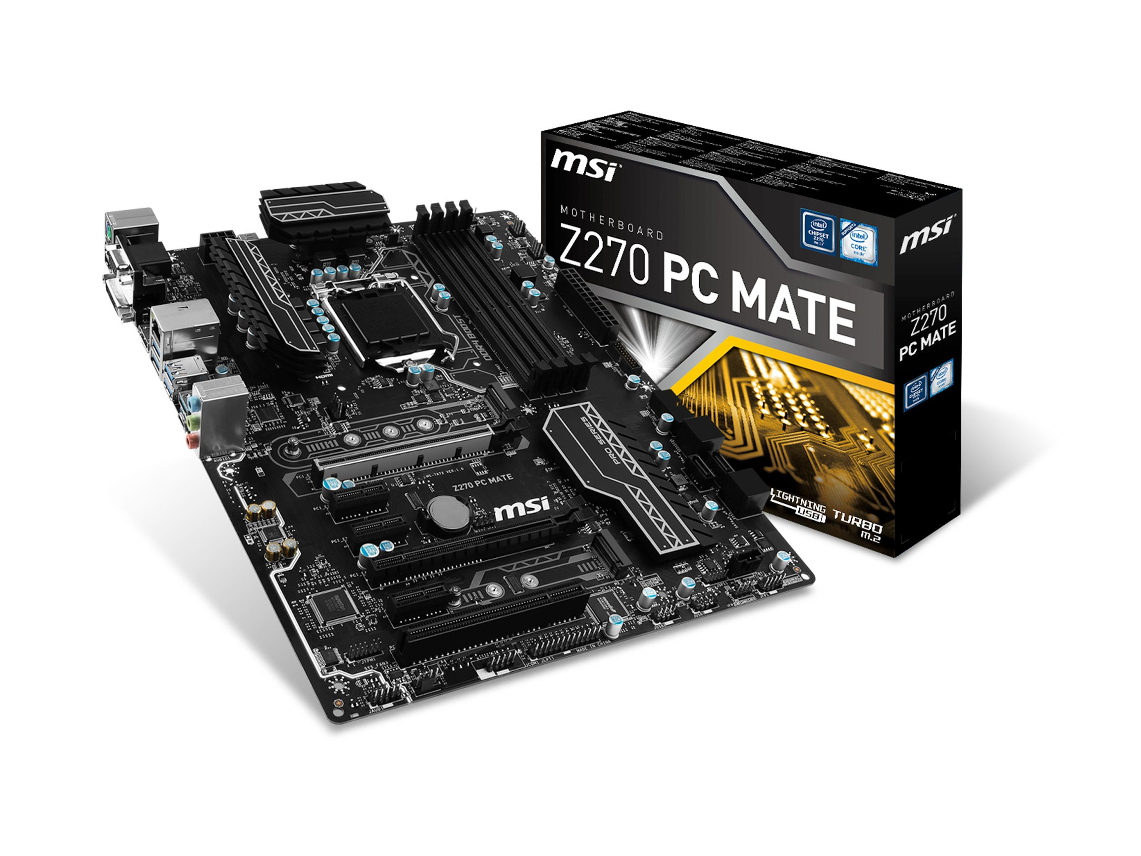 MSI Pro Series Intel Z270 DDR4 HDMI USB 3 CrossFire ATX Motherboard (Z270 PC MATE)