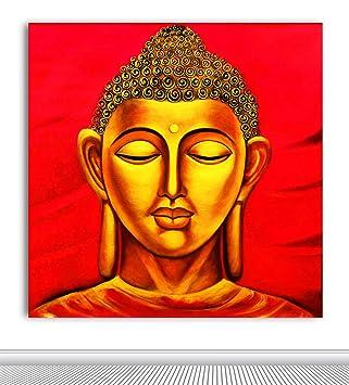 amazon tamatina buddhaキャンバスペイント lord buddha 仏教絵画 m