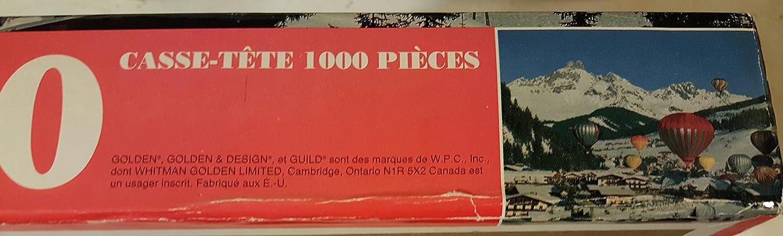 Golden Guild Hot Air Balloons Over Snowy Mountain Puzzle 1000 Piece