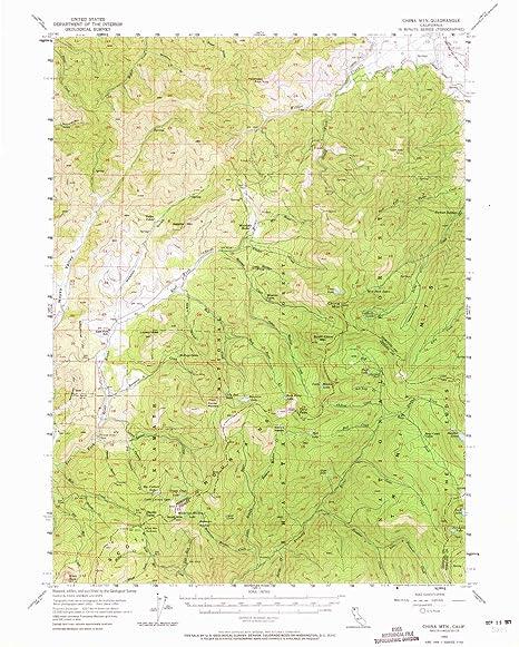 Amazon Com Yellowmaps China Mountain Ca Topo Map 1 62500 Scale 15