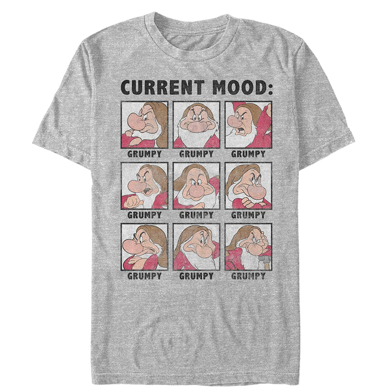 Snow White and The Seven Dwarves Mens Grumpy Current Mood T-Shirt