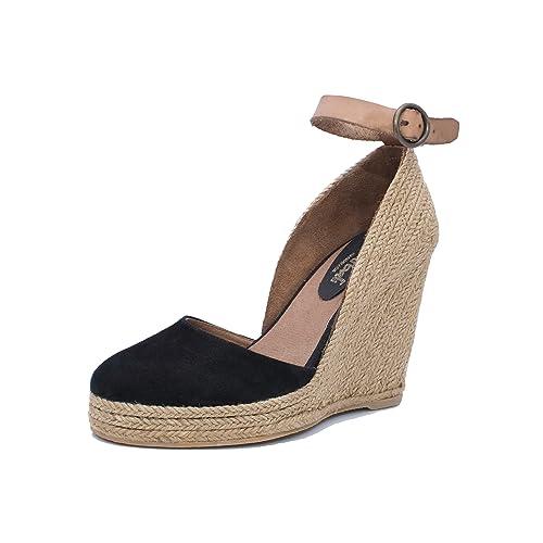 MTBALI - Sandalia Alpargata con cuña, Mujer - Modelo Altea Black: Amazon.es: Zapatos y complementos