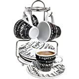 Bene Casa 43888 Espresso Set with Iron Stand, 9 Piece