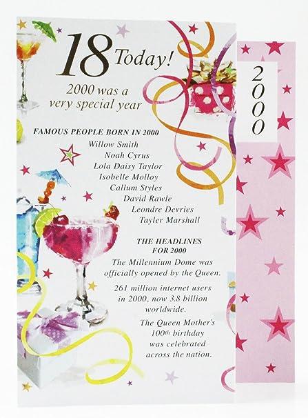 18 hoy 1999 año especial Born tarjeta de felicitación de ...