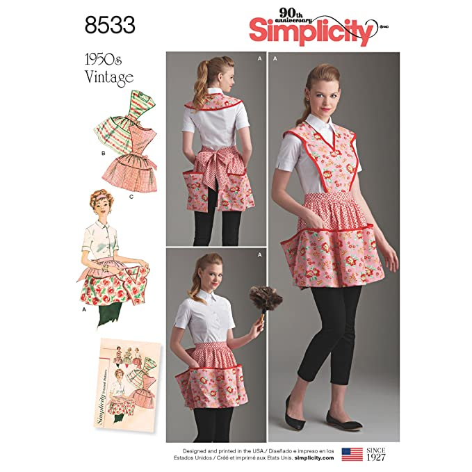 Vintage Aprons, Retro Aprons, Old Fashioned Aprons & Patterns Simplicity Vintage US8533A Sewing Pattern Crafts A (A (S-M-L) $3.00 AT vintagedancer.com