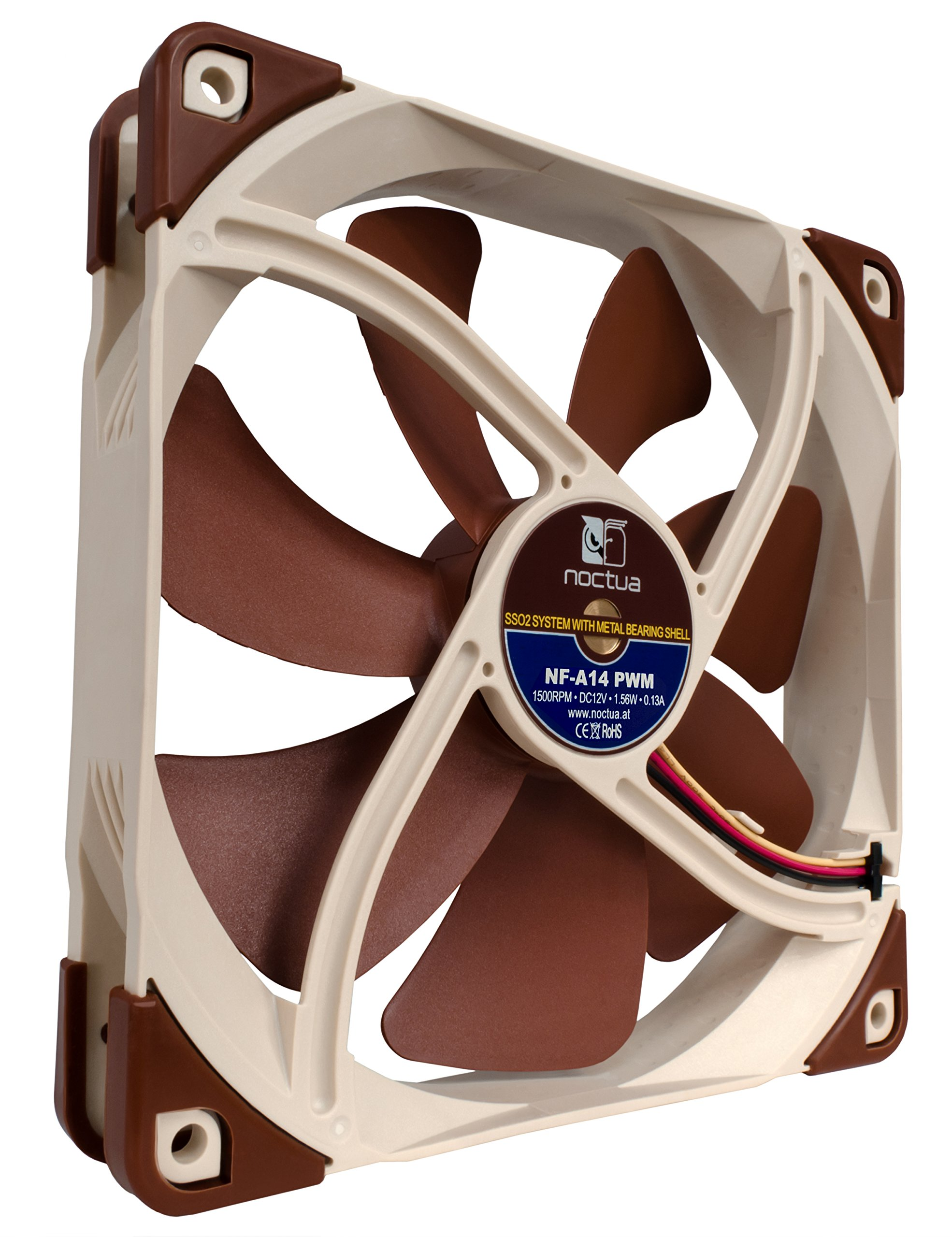 Noctua 140mm Premium Quiet Quality Fan with AAO Frame Technology (NF-A14 PWM) by noctua (Image #3)