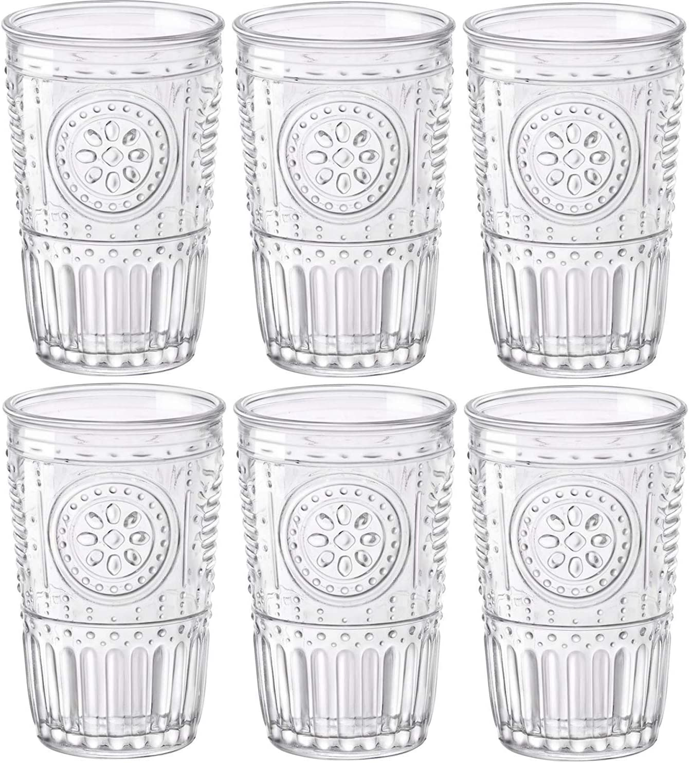 Bormioli Rocco Romantic Juego de 6 Vasos 30,5 cl, Cristal Transparente, 8 x 8 x 12,5 cm