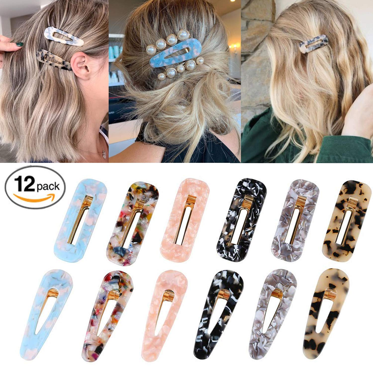 New Fashion Women Acid Acetic Acrylic Pin Barrette Clip Hairpin Hair Access //MY