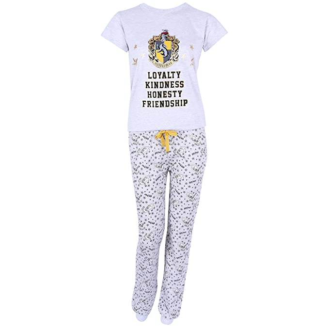 Pijama Gris-Amarillo Hufflepuff Harry Potter - Medium