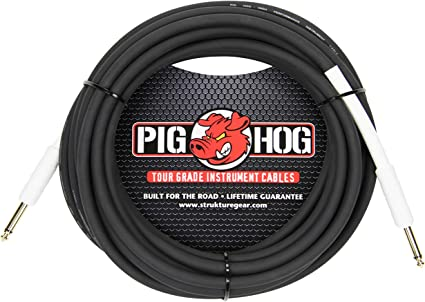 """2-Pack PIG HOG 6 foot ft 1//4/"""" Right-Angle GUITAR INSTRUMENT CABLE PH6RR NEW"""