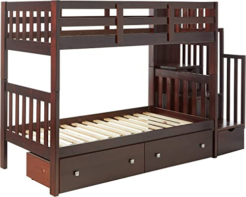 Donco Kids Mission Stairway Bunk Bed