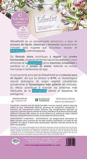 Cápsulas ClimaFort Menopausia: Amazon.es: Salud y cuidado personal