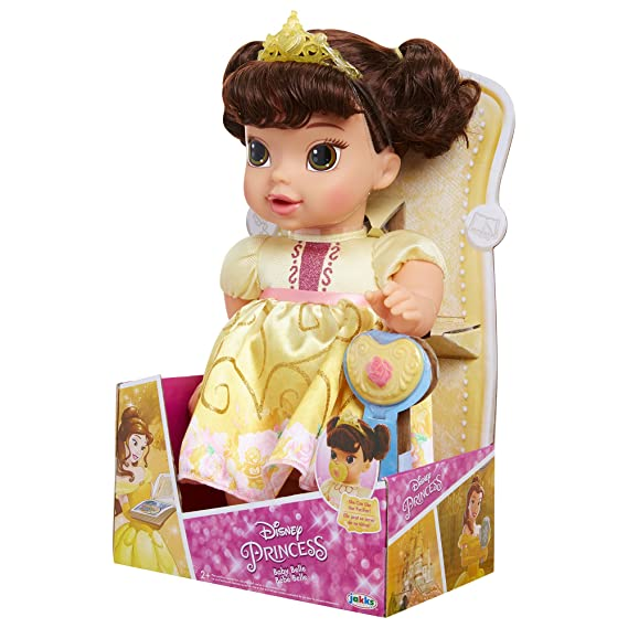 Disney Princess Deluxe Baby Belle Doll with Pacifier Baby Doll Toy