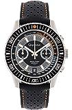 Gigandet G7-004 Montre pour homme avec bracelet en cuir Noir
