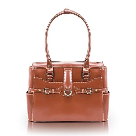 McKlein Willow Springs 15.6 Leather Ladies Briefcase Pink 42 cm