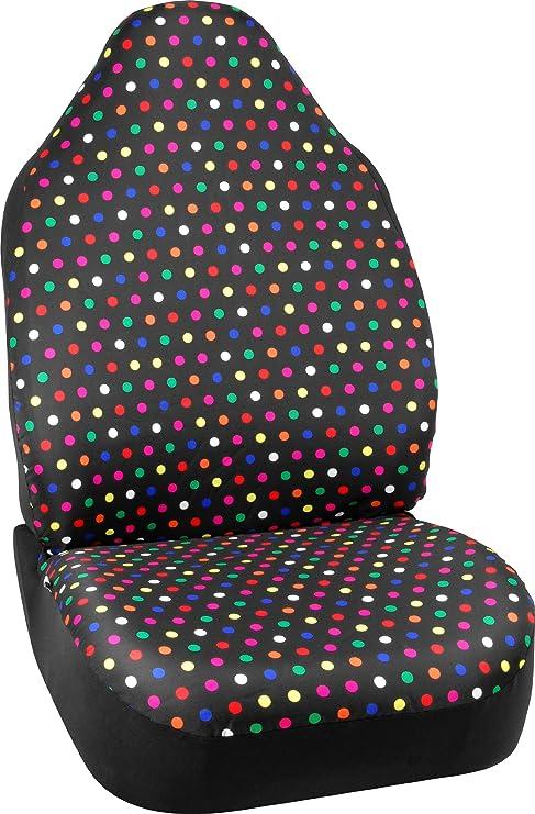 Bell Automotive 22 1 56809 8 Universal Rainbow Polka Dot Seat Cover