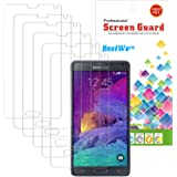 6x Film Protection Galaxy Note 4, Protection d'écran Pour Samsung Galaxy Note 4 (6 pièces)