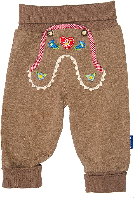 Eisenherz Pantalones de Deporte para bebés con Bordado de país Alpino, con Cintura elástica Estilo Pantalones de Cuero - Elegante Look Tradicional en la Talla 86.
