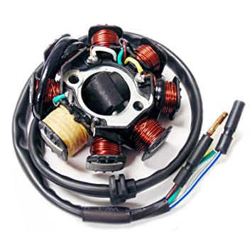helix 150cc go kart wiring diagram amazon com magneto stator ignition generator 8 poles coils gy6