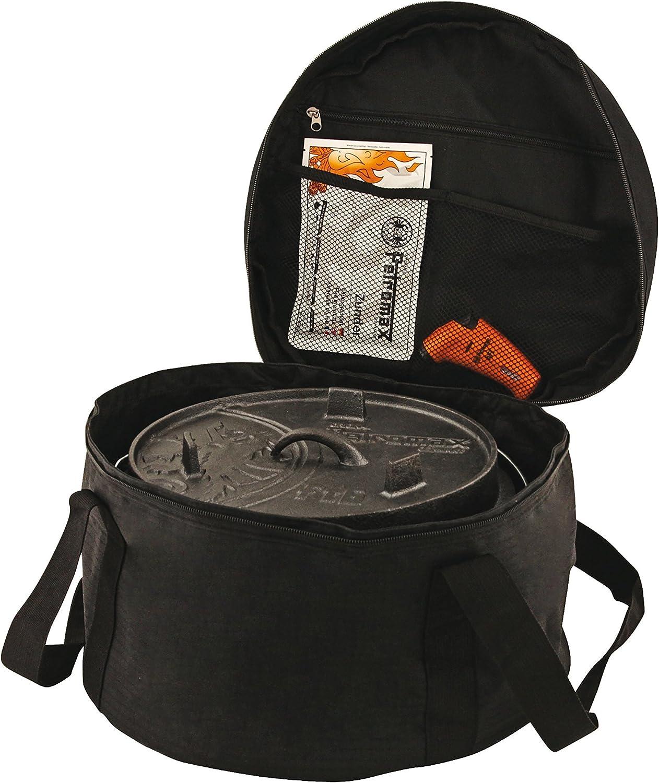 Petromax-Borsa-per-pentola-da-Campeggio-Dutch-Oven-Seleziona-Nero-Schwarz miniatura 2