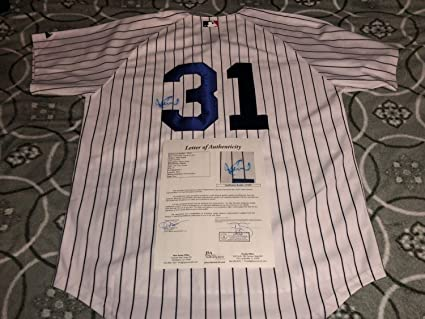 1bed5b070 Image Unavailable. Image not available for. Color  Ichiro Suzuki  31  Autographed Signed New York Yankees Baseball Jersey ...