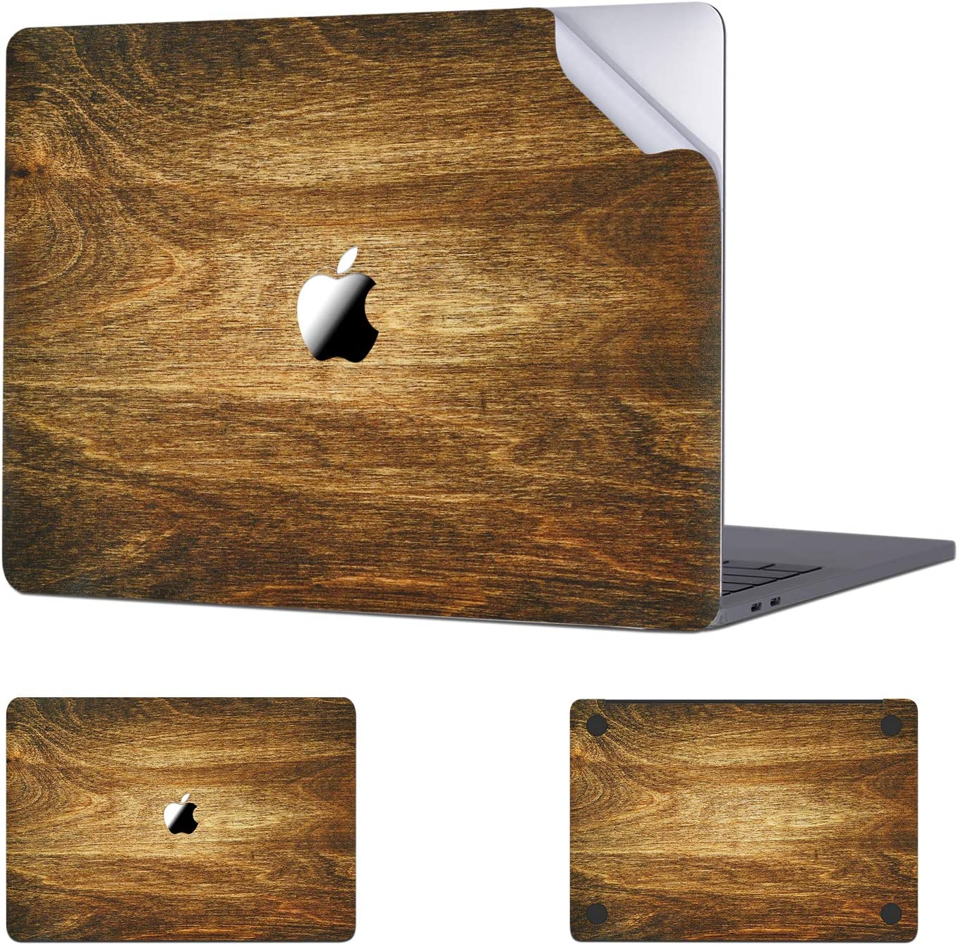 Digi-Tatoo MacBook Skin Decal Sticker Compatible with MacBook Air 13 inch 2020/2018 Release (Model A2337/A2179/A1932), Easy Apply Full Body Protective Vinyl Skin [Wood Texture 2]