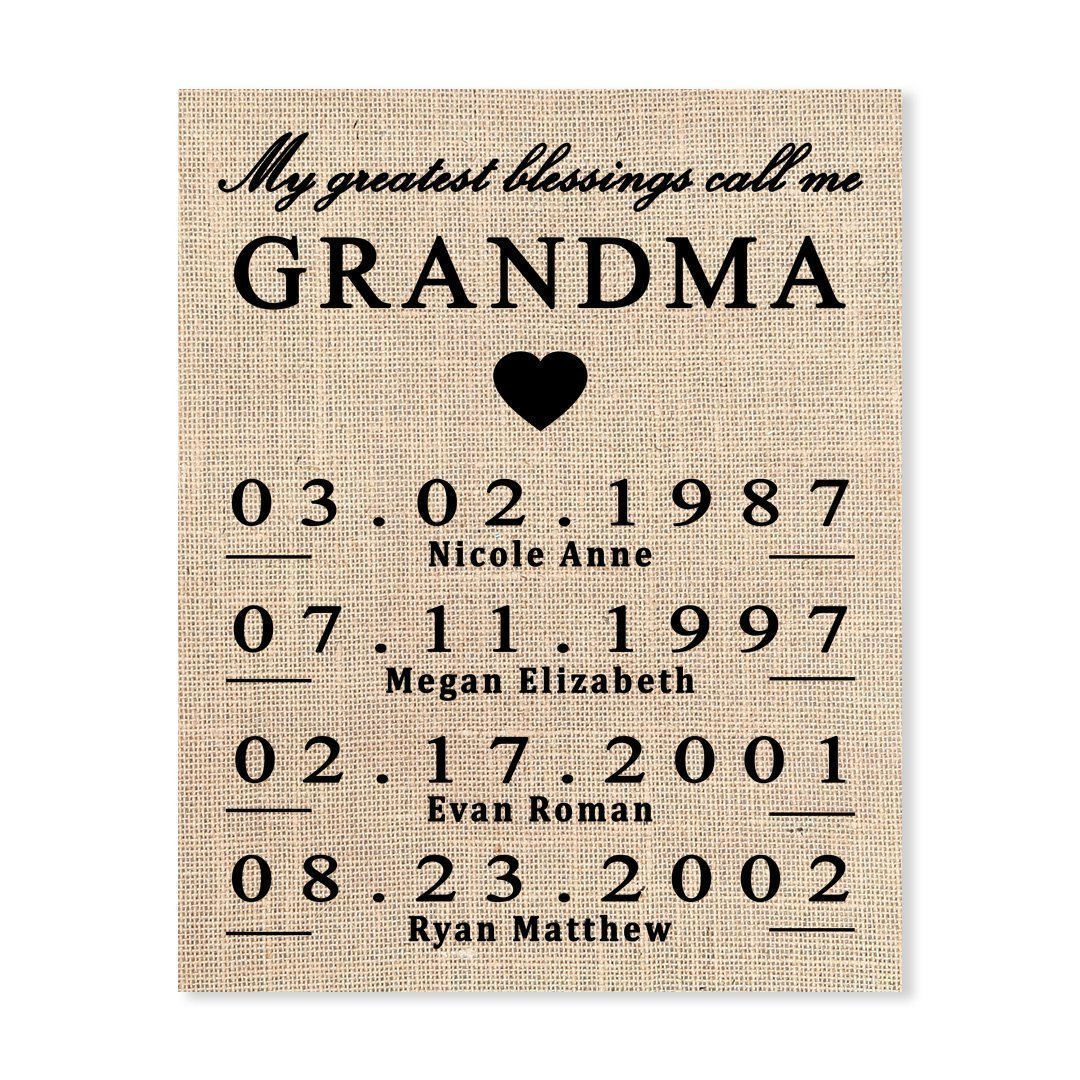 Custom Grandma Gifts Grandma Gift Grandma Birthday Gift Grandma ...