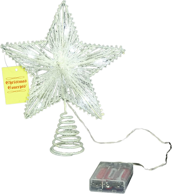 Christmas Tree Top Star D/écoration de No/ël 10 Champagne Springy /Étoile Avec blanc chaud Led