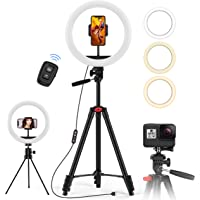 Deals on Jecoo 10.2-in Ring Light w/ 50-in Tripod Stand & Phone Holder
