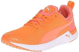 PUMA Women's Pulse XT 3-D New Running Sneaker, Fluorescent Peach/White, 7 B US