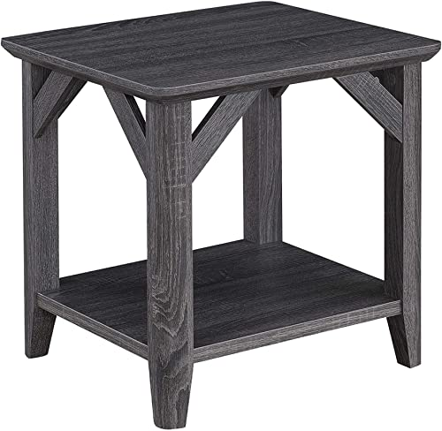 Convenience Concepts Winston End Table, Weathered Gray