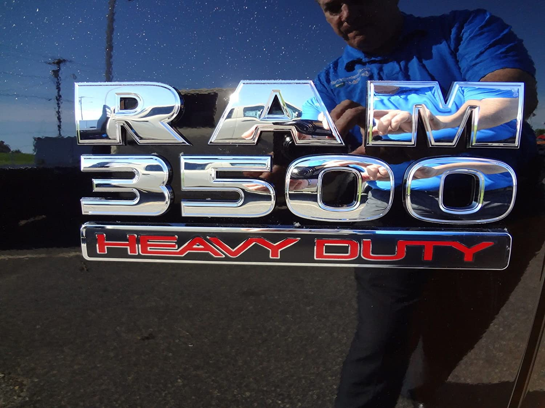 Yoaoo 3x OEM Black Dodge RAM 3500 HEAVY DUTY Plus 4x4 Emblem Badge 3D Emblem Decal Nameplates Flat Letter New Matte