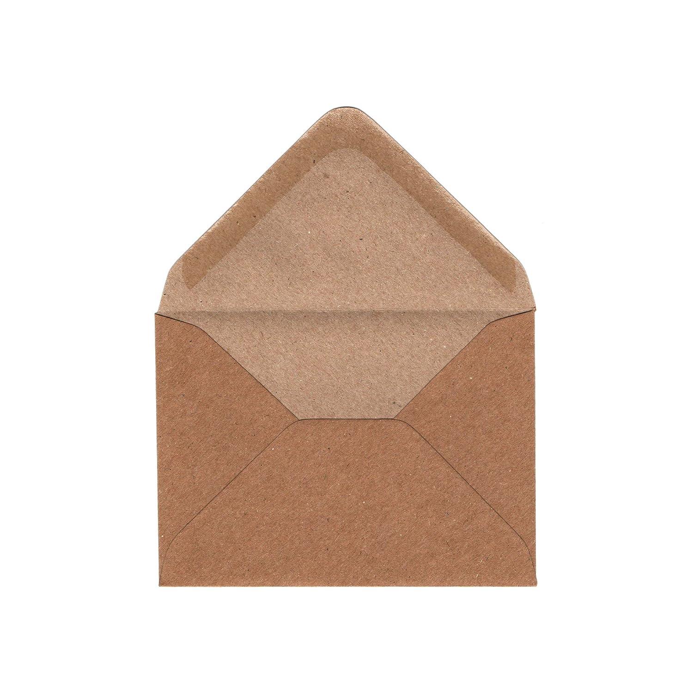 Invitation de mariage Correspondance marron Gobrecht /& Ulrich C7Fleck enveloppes kraft–100g//m²–pour petits A7Cartes de vœux