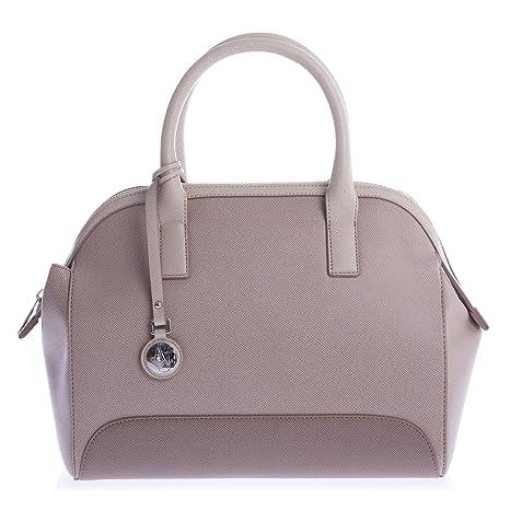 a048be678b ARMANI JEANS Borsa Shopping Tracolla Donna Vernice Blu Beige