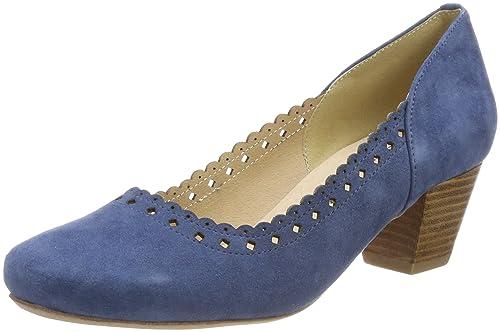 3001514 - Zapatos de Tacón con Punta Cerrada de Cuero Mujer, Color Marrón, Talla 37 EU Hirschkogel