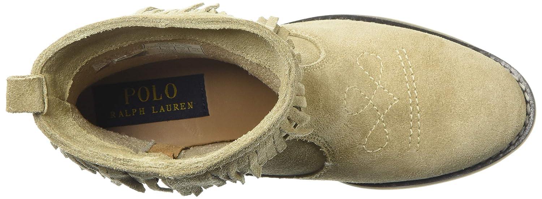 Polo Ralph Lauren Kids Girls Zyla Fashion Boot Sand M080 M US Toddler