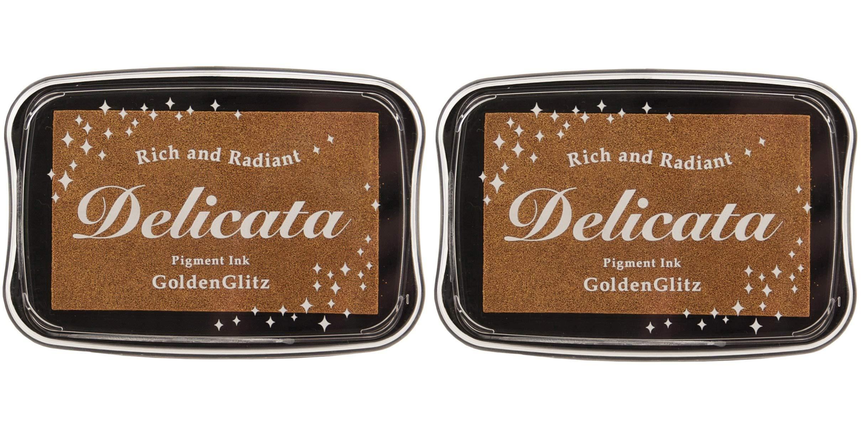 Tsukineko DE000191 Delicata Golden Glitz Metallic Pigment Inkpad, Full (Тwo Рack)