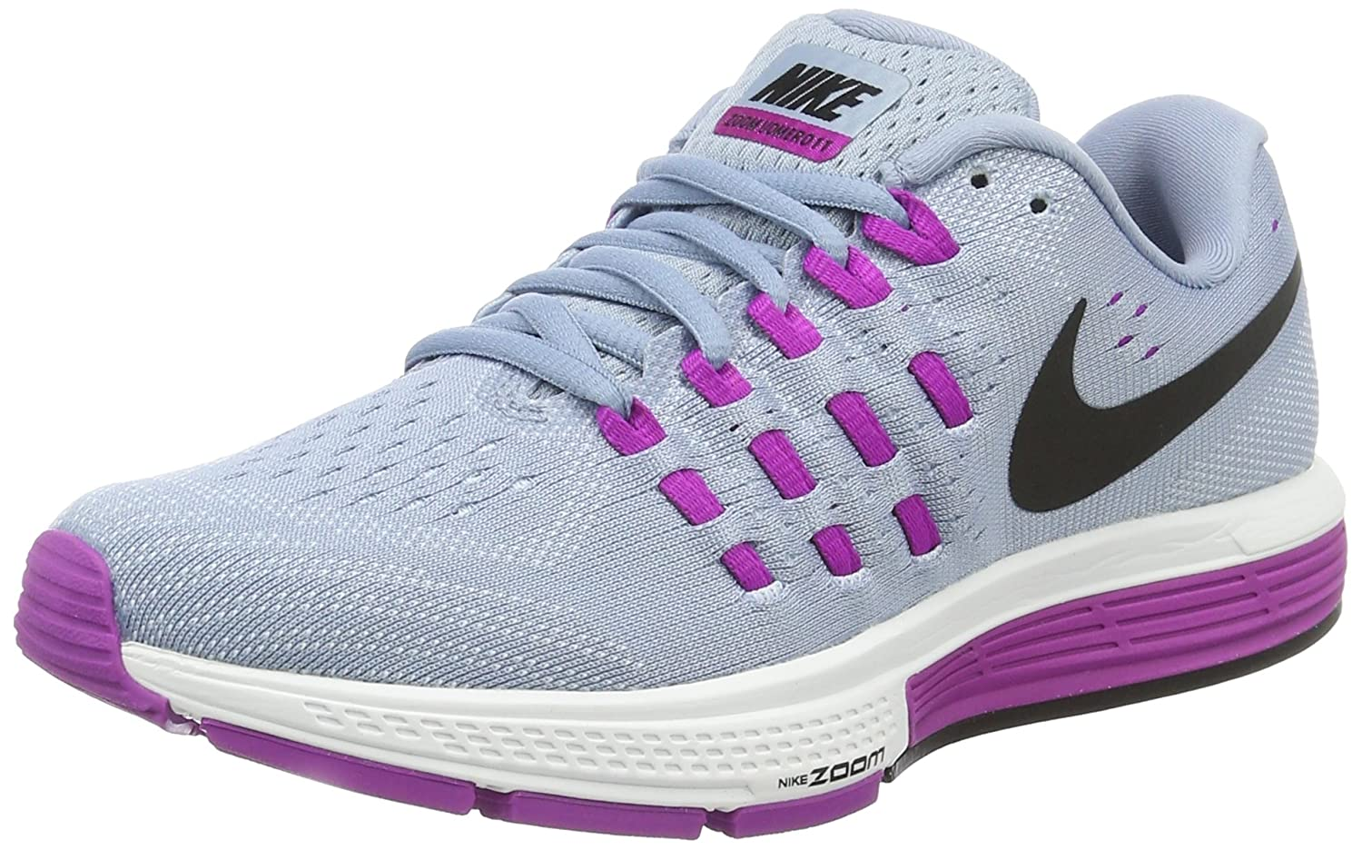 NIKE Women's Air Zoom Vomero 11 Running Shoe B015GIHUEO 10.5 B(M) US|Blue Grey/Black-hyper Violet-blue Tint