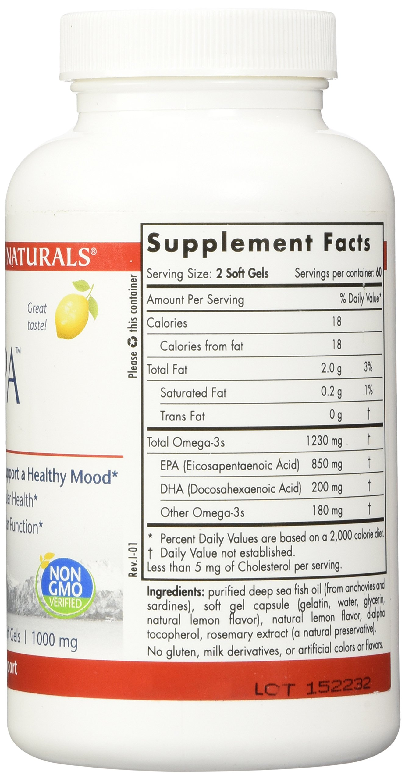 Nordic Naturals Pro - ProEPA, Promotes Cardiovascular Health, Supports Gastrointestinal Health and a Healthy Mood - Lemon Flavored 120 Soft Gels by Nordic Naturals (Image #4)