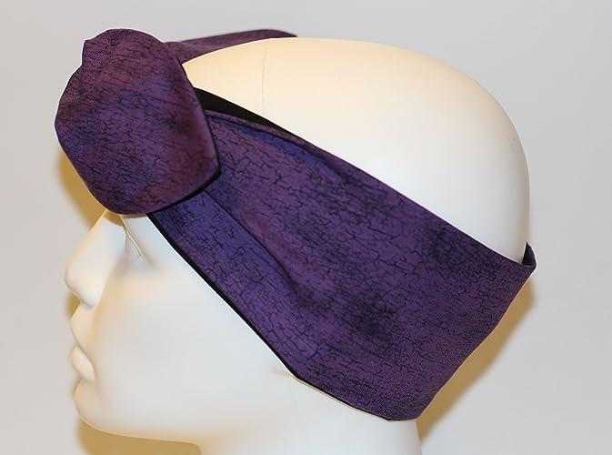 Amazon.com  Purple and Black Bandana Headband Hair Accessory  Handmade 26c55a9fd2a