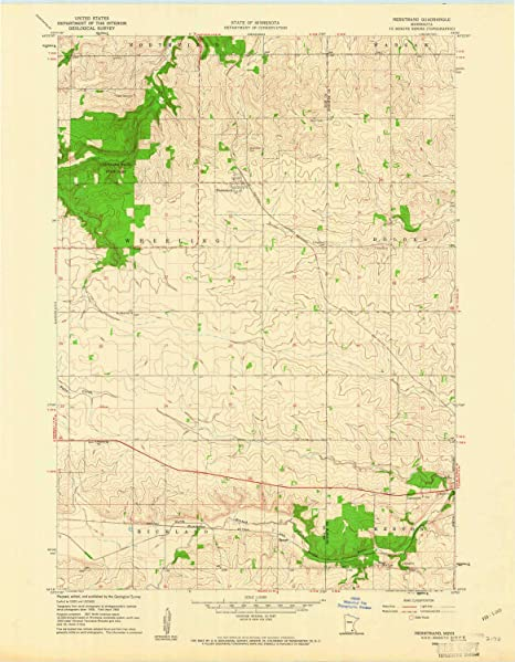 Amazon com : YellowMaps Nerstrand MN topo map, 1:24000 Scale, 7 5 X