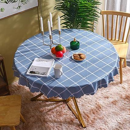 LIUJIU Mantel rectangular de vinilo, de PVC, apto para mesa ...